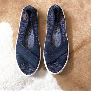 BLOWFISH navy slip on sneakers